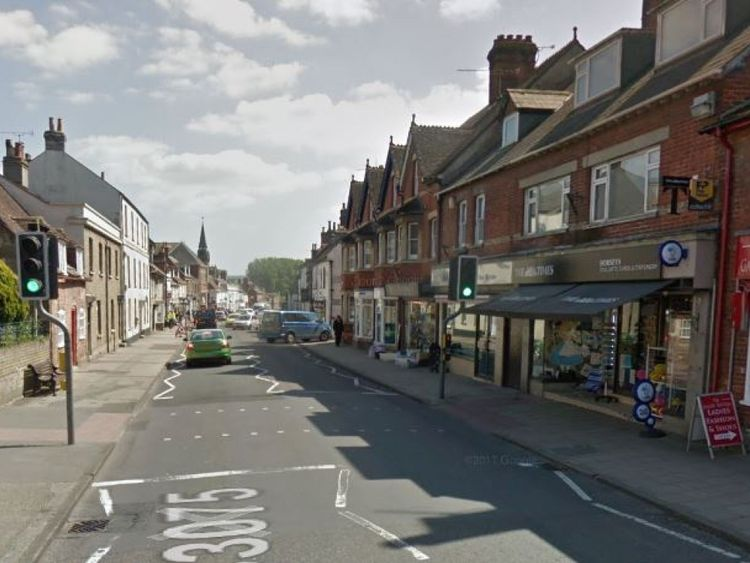 The boy was hit while at a pedestrian crossing with his family. Pic: Google Street View