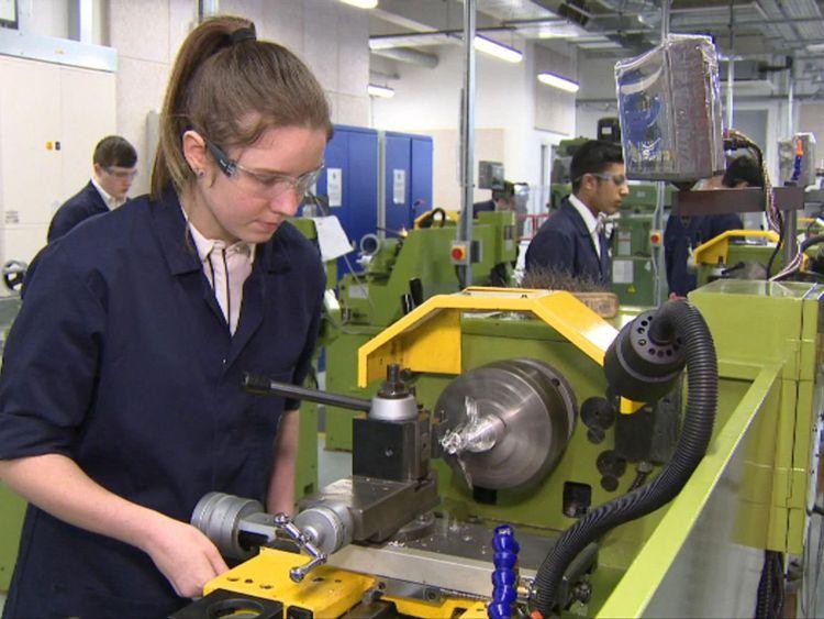 Pupils learning work skills in Warrington