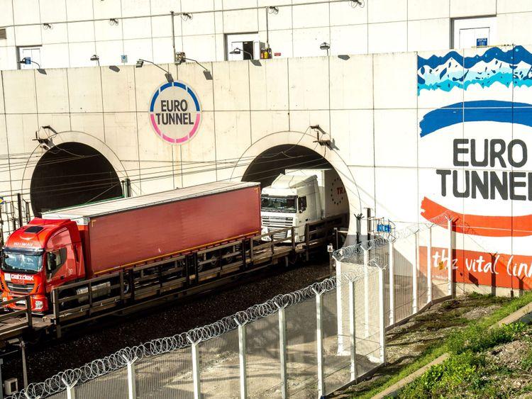 Eurotunnel freight tunnel
