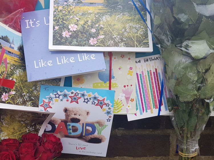 The family of burglar Henry Vincent, who was fatally stabbed when he broke into a pensioner's home, have marked his 38th birthday with balloons and flowers at the scene. Pics from Olivia Kinsley