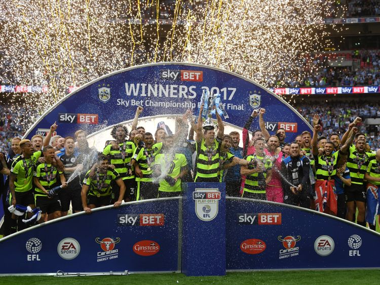 Huddersfield were promoted via the Sky Bet Championship play off final in 2017
