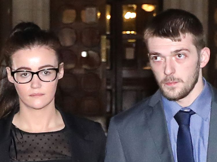 Tom Evans and Kate James leave the High Court