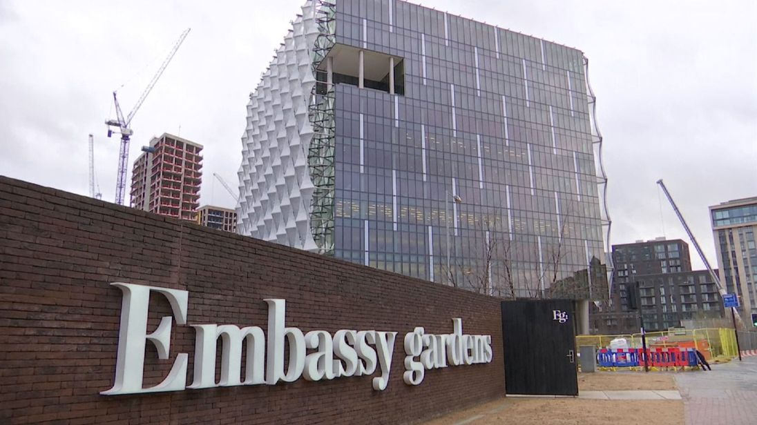 The embassy is a key part in the rejuvenation of Nine Elms