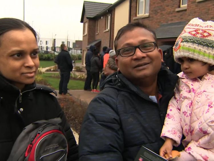 Sivakumar Ramachandran who queued with dozens of others for a week to a claim a new build house