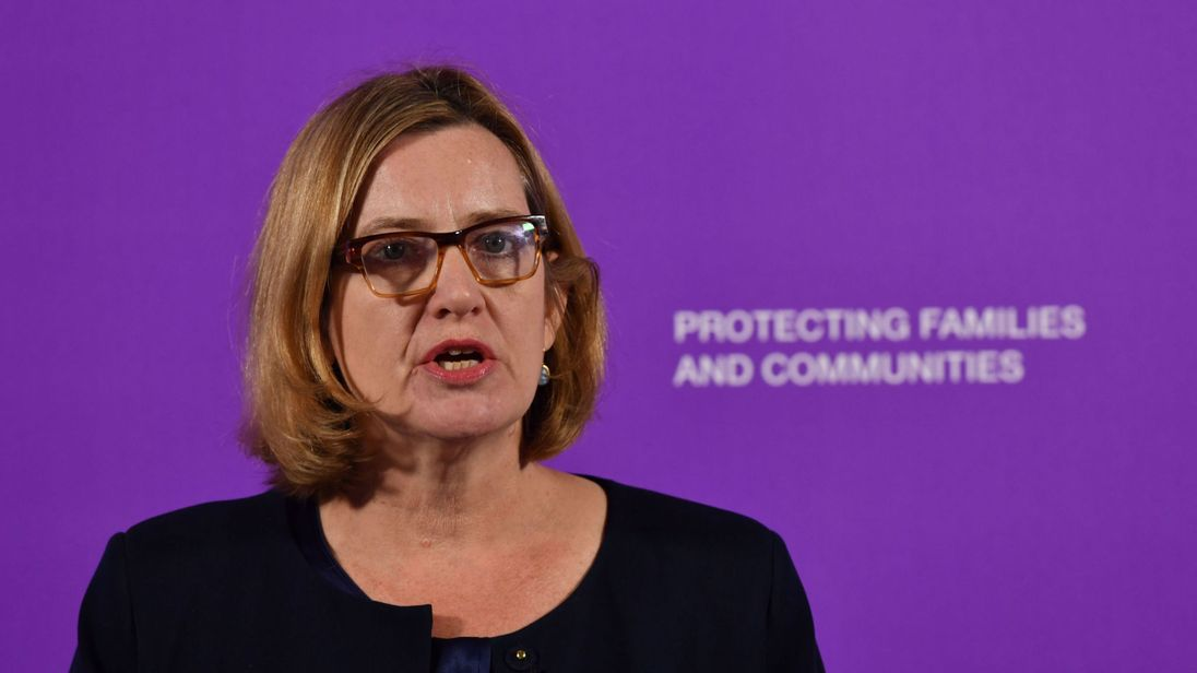 Home Secretary Amber Rudd launched the strategy at Coin St Neighbourhood Centre in London