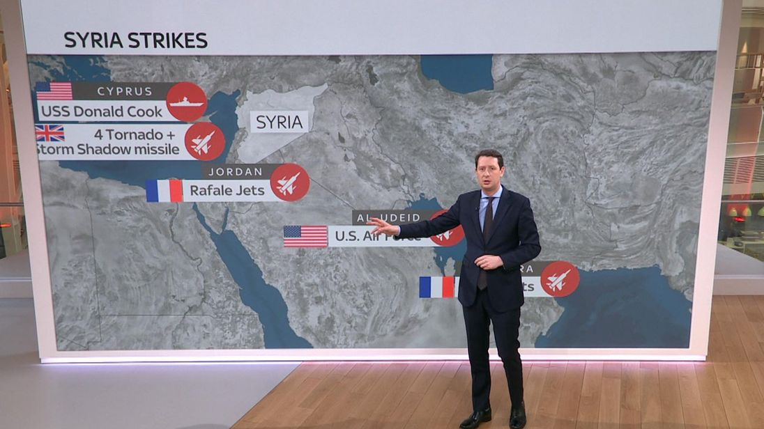 Sky's Defence Correspondent Alistair Bunkall explains who attacked and which sites were targeted