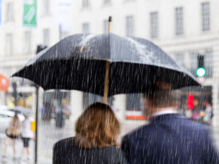 Up to 70mm of rain could fall in some places. File pic
