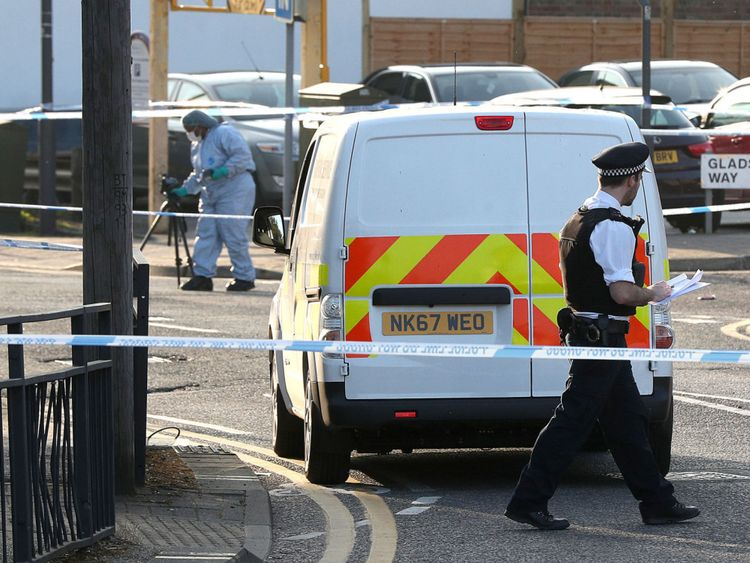 Police cordons are in place in Harrow