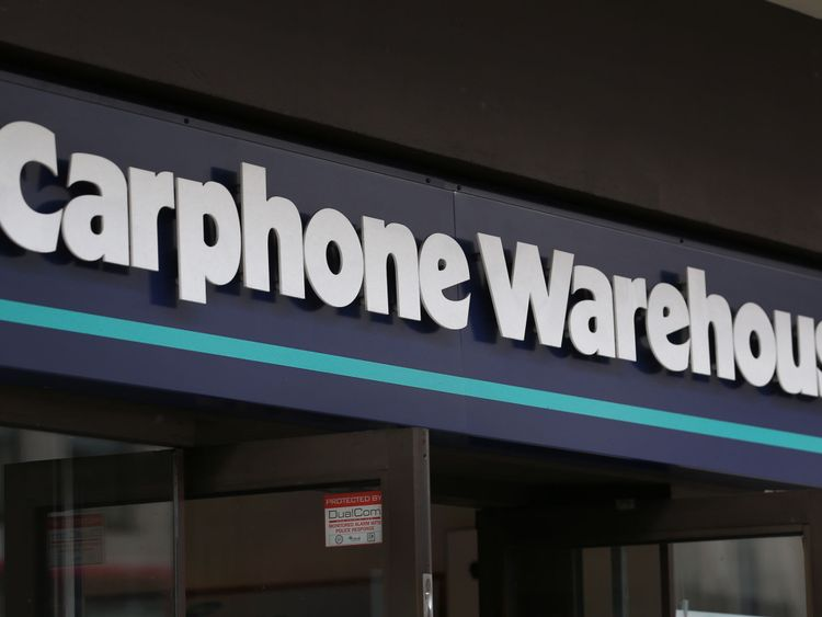 File pic of Carphone Warehouse logo