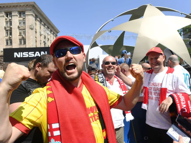 Liverpool's army of fans are already creating an atmosphere in Kiev as the clubs bids for a sixth European Cup