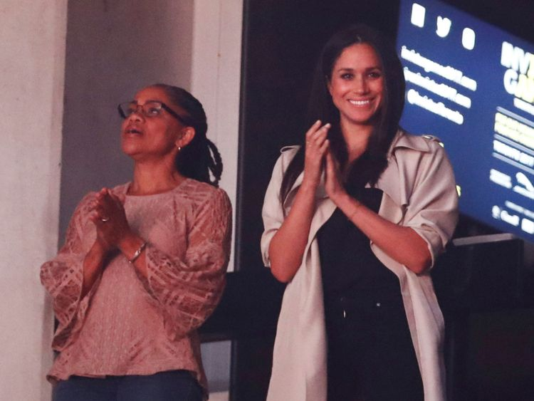Meghan Markle and Doria Ragland
