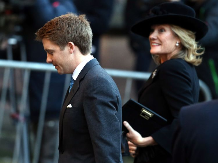 attends a memorial service for the Duke of Westminster at Chester Cathedral on November 28, 2016 in Chester, England.