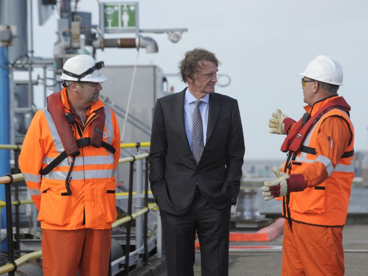 Ineos chairman Jim Ratcliffe (C) tops The Sunday Times rich list