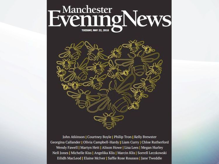 The front page of the Manchester Evening News