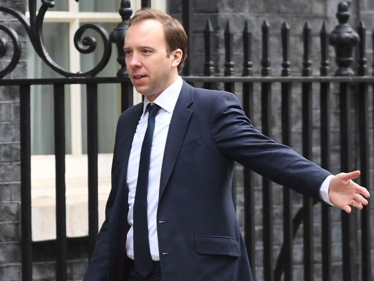 Culture Secretary Matt Hancock - confirmed change
