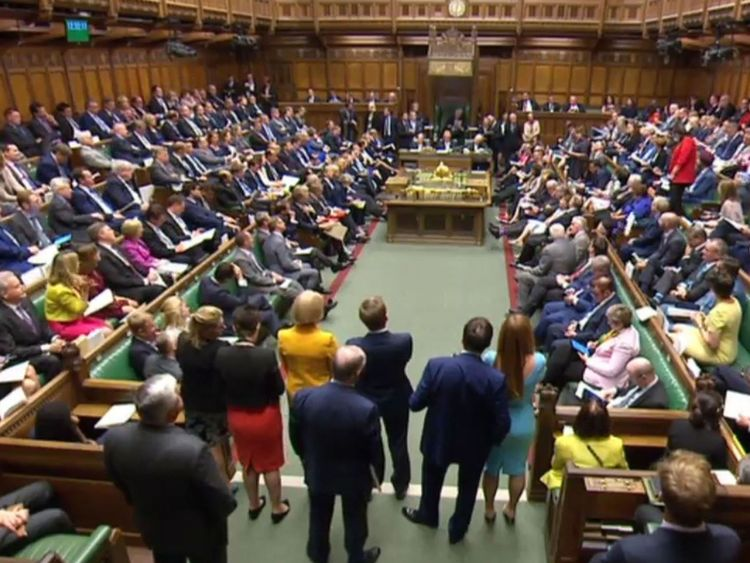 Mrs May is concerned pro-EU Tory MPs will rebel and vote for the Lords amendments