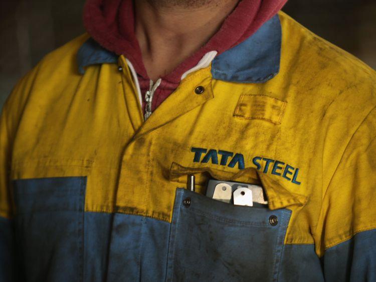 he Tata Steel steel plant at Port Talbot