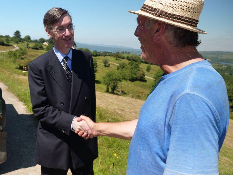 Jacob Rees-Mogg visits the Irish border