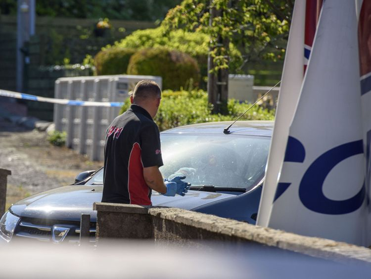 A Dacia vehicle is removed from near the scene where Alesha MacPhail went missing