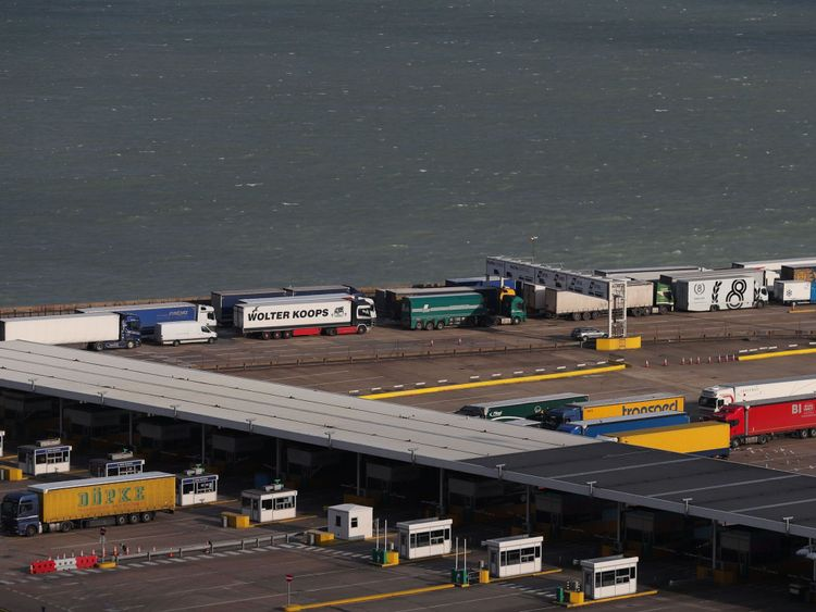 The lorries would go to one port for a check and then be moved over to prevent queues