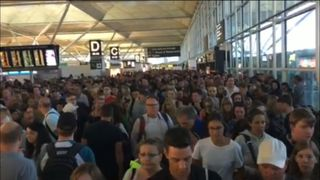 Delays at Stansted have caused chaos on Saturday morning