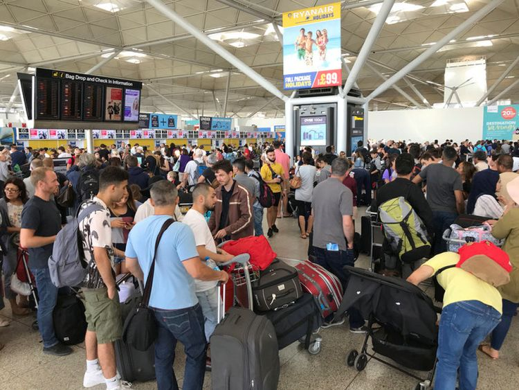 Some were forced to go back home after missing their flights