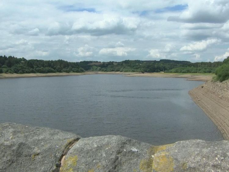 Some of the reservoirs are looking a little low