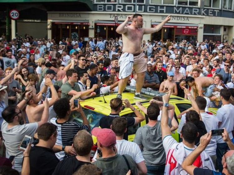 This man danced on the roof with his top off