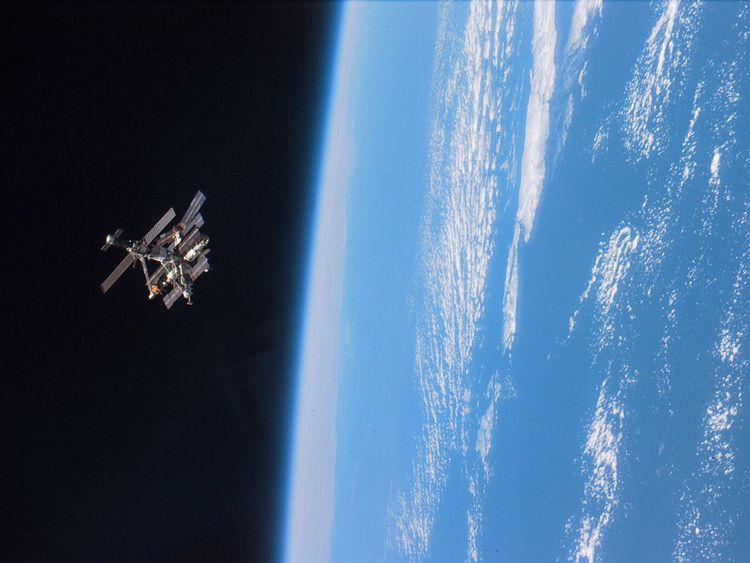 Despite looking empty, the space around Earth is cluttered with junk