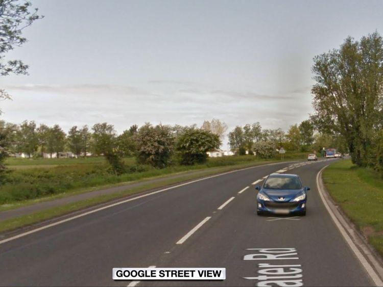The man was found off the A370 near Weston-super-Mare