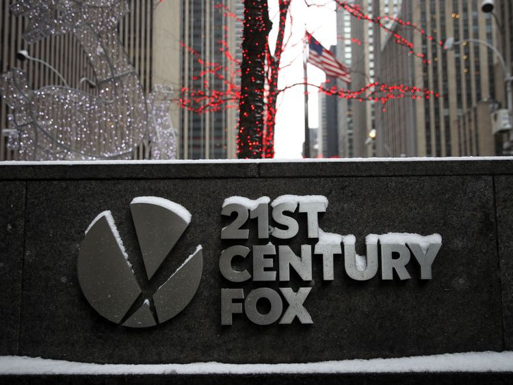 A branch of 21st Century Fox was raided. File pic