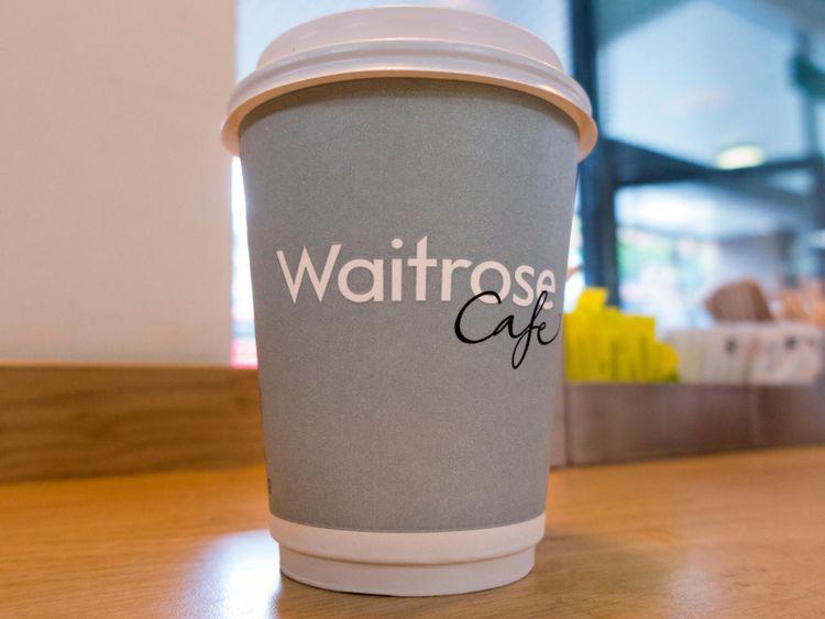 Waitrose coffee cup