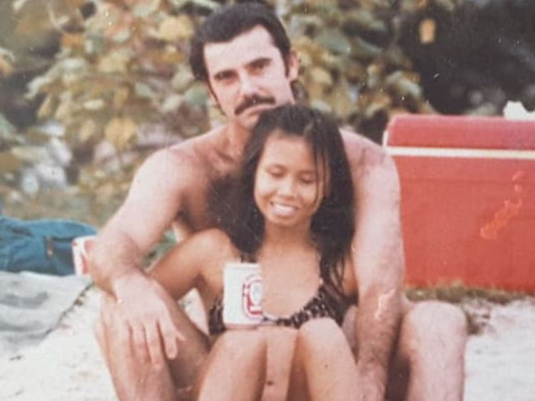 Businessman Alan Hogg, 64, and wife Nott, 61, in a picture from when they first met. Pic: Viral Press