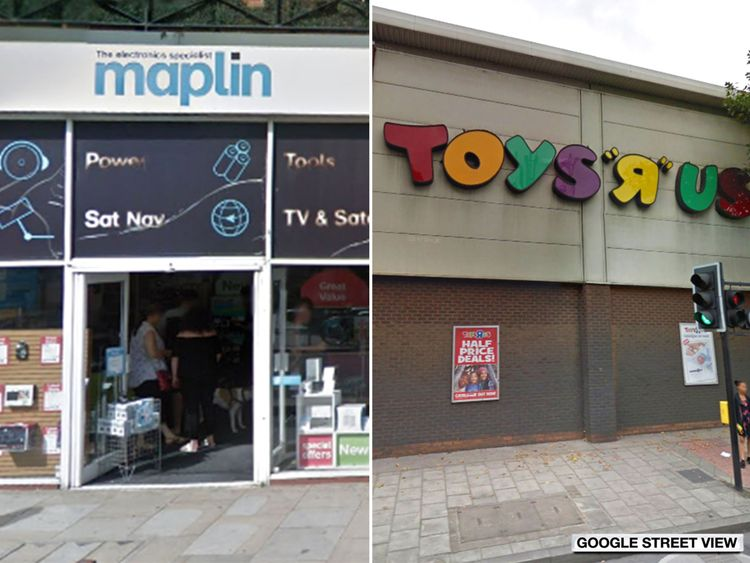 Maplin and Toys R Us