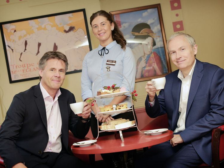 Paul May, chief executive of Patisserie Holdings, and Luke Johnson executive chairman