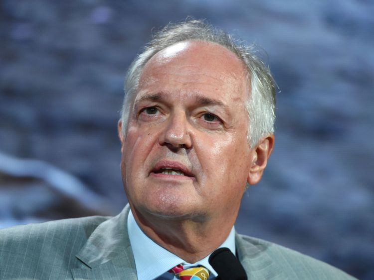 Chief Executive Officer at Unilever Paul Polman speaks onstage during the 2018 Concordia Annual Summit